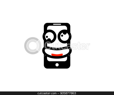 smile mobile phone logo stock photo, is a symbol related to business and technology by meisuseno