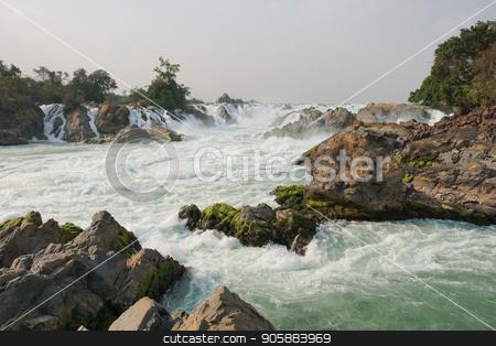 Khone Phapheng Waterfalls, Laos, Asia stock photo, Khone Phapheng Waterfalls, Mekong River, Laos, Asia by Alexander Ludwig