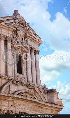Ancient Roman Facade stock photo, Details on the Trevi Fountain in Rome, Italy by Darryl Brooks