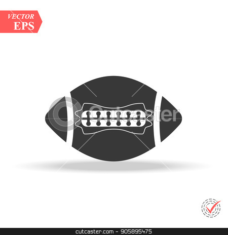 american football icon illustration isolated vector sign symbol stock vector clipart, american football icon illustration isolated vector sign symbol eps by elnurbabayev