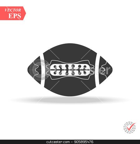 vector black Football icons on white background stock vector clipart, vector black Football icons on white background eps by elnurbabayev