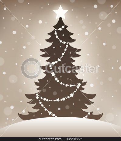 Stylized silhouette of Christmas tree 1 stock vector clipart, Stylized silhouette of Christmas tree 1 - eps10 vector illustration. by Klara Viskova