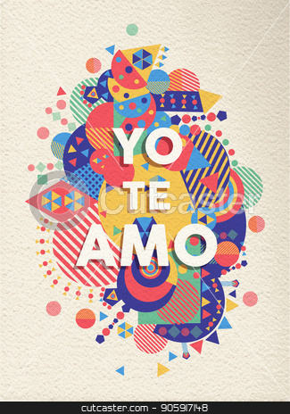 I love you text quote greeting card in spanish stock vector i love you text quote greeting card in spanish m4hsunfo