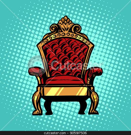 throne, symbol of Royal power stock vector clipart, throne, symbol of Royal power. Pop art retro vector illustration kitsch vintage by studiostoks