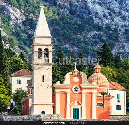 Beautiful Church in Kotor stock photo, A Beautiful Old Church on the Coast of  Kotor by Darryl Brooks