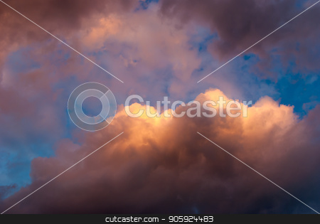 Colorful colors of sunset: a stunning mixture of warm and cold tones of the sunset and the evening sky stock photo, Colorful colors of sunset: a stunning mixture of warm and cold tones of the sunset and the evening sky. by kamrad71