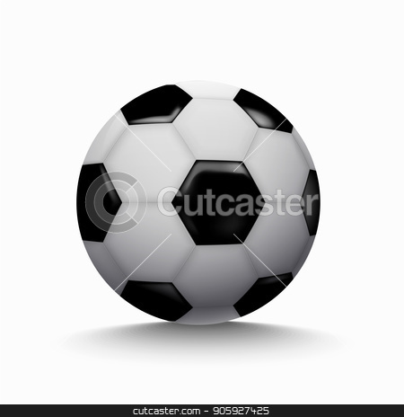 football soccer ball icon on white background. stock vector clipart, football soccer ball icon on white background. Soccer World Cup 2018 by petr zaika