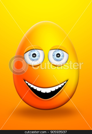 Easter Egg With Eyes and Mouth Feeling Happy and Cheerfull 3D Illustration stock photo, Easter Egg With Eyes and Mouth Feeling Happy and Cheerfull 3D Illustration by Aleksandar Ilic