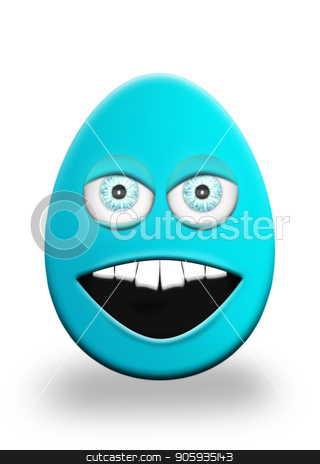 Easter Egg With Eyes and Mouth Feeling Angry 3D Illustration stock photo, Easter Egg With Eyes and Mouth Feeling Angry 3D Illustration by Aleksandar Ilic