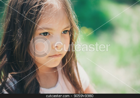 Portrait of a girl on a white background stock photo, Portrait of a girl on a white background by aaalll3110