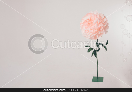 Big pink flower on a white background stock photo, Big pink flower on a white background by aaalll3110
