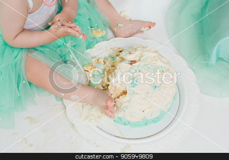 leg of baby food on white background. Feet and cake stock photo, leg of baby food on white background. Feet and cake by aaalll3110