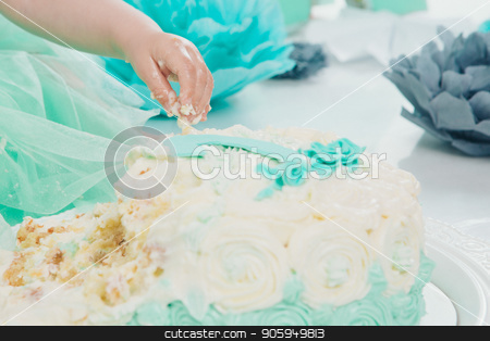 lhand of baby food on white background. arm and cake stock photo, lhand of baby food on white background. arm and cake by aaalll3110
