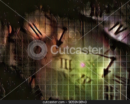 Time stock photo, Abstract canvas. Roman numbers and clock hands. by Bruce Rolff