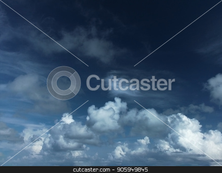 Cumulus Clouds stock photo, Beautiful cumulus clouds in the sky by Bruce Rolff