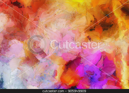 Vivid colors stock photo, Colorful abstract paintin in vibrant colors by Bruce Rolff