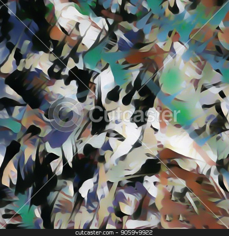 Drops stock photo, Abstract painting. Brush strokes. by Bruce Rolff