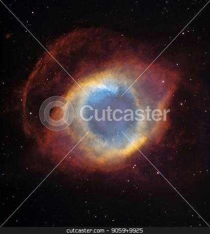 Eye  galaxy stock photo, Hubble view. Vivid galaxy in a shape of eye. by Bruce Rolff