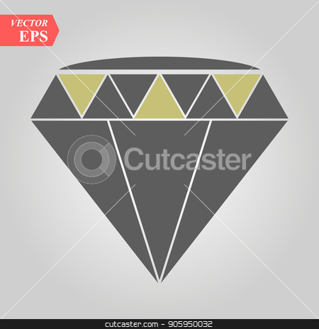 A sparkling cubic crystal jewel is graphically designed to make an icon for diamond stock vector clipart, A sparkling cubic crystal jewel is graphically designed to make an icon for diamond eps 10 by elnurbabayev