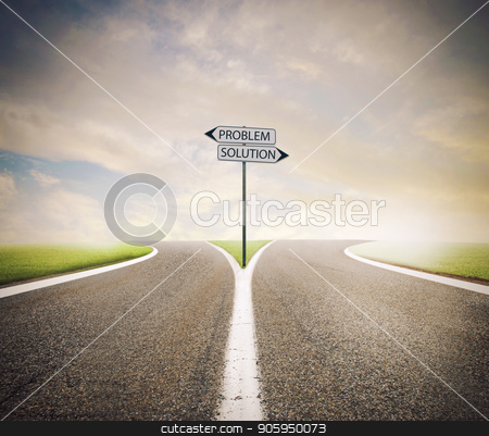 Problem and solution way. Choose the right way stock photo, Problem and solution way. Choose the right way concept by Federico Caputo