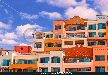 Many Colored Condos stock photo, A hilltop covered in condos of many colors by Darryl Brooks