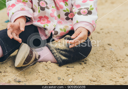 a ittle girl playing in the Playground stock photo, a little girl playing in the Playground by aaalll3110
