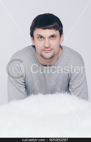 portrait: Face of handsome man on a white background stock photo, portrait: Face of handsome man on a white background by aaalll3110