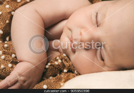 the portrait of newborn baby close up stock photo, the portrait of newborn baby close up by aaalll3110