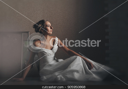 bride, model in beautiful pose photographed in studio stock photo, bride, model in beautiful pose photographed in studio by aaalll3110