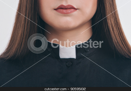 cropped photo: close-up of clothing items. Priest's robe: collar stock photo, cropped photo: close-up of clothing items. Priest's robe: collar by aaalll3110