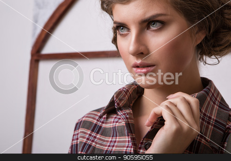 cropped photo: a girl holds the hand of a person. Model posing in a dress. Item of clothing close-up stock photo, cropped photo: a girl holds the hand of a person. Model posing in a dress. Item of clothing close-up by aaalll3110