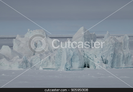 Beautiful view of icebergs stock photo, Beautiful view of icebergon the way to North Pole by Vladimir Seliverstov
