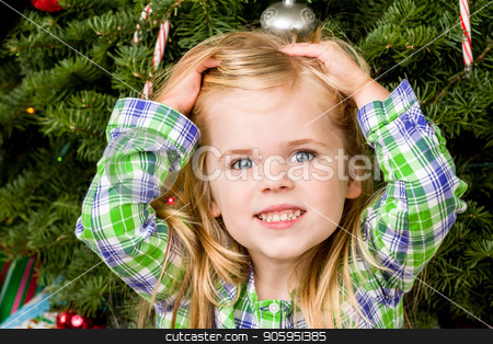 Just what I always wanted stock photo, A Young girl gets the present for christmas that she always wanted. by txking