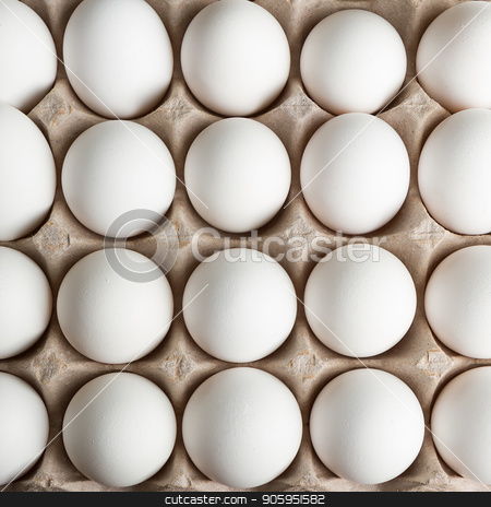 Top down view of eggs stock photo, Lots of eggs close up with a top down view by txking