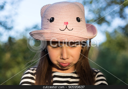 Sad younf girl. Frustrated emotion. Resentment and anger, grief and trouble concept stock photo, Sad younf girl. Frustrated emotion. Resentment and anger, grief and trouble concept. by Alfira Poyarkova