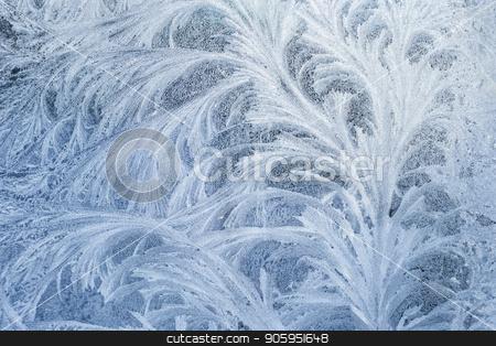 Frosty glass ice background, natural beautiful snowflakes. Frost ice pattern. stock photo, Frosty glass ice background, natural beautiful snowflakes. Frost ice pattern. Winter Christmas abstract backdrop. by Alfira Poyarkova
