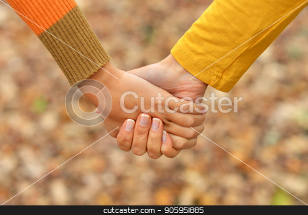 two people  holding at the nature stock photo, two beautiful people  holding at the nature by Ruslan Huzau