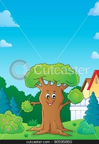 Cheerful tree theme image 3 stock vector clipart, Cheerful tree theme image 3 - eps10 vector illustration. by Klara Viskova