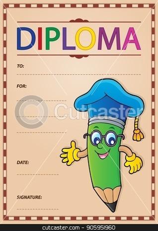 Diploma template image 9 stock vector clipart, Diploma template image 9 - eps10 vector illustration. by Klara Viskova