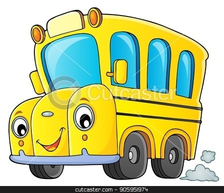 School bus thematics image 1 stock vector clipart, School bus thematics image 1 - eps10 vector illustration. by Klara Viskova