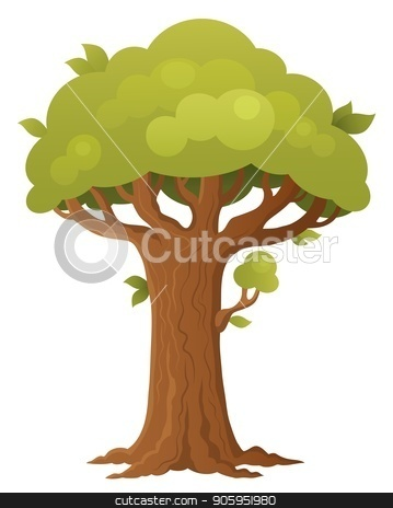 Tree topic image 1 stock vector clipart, Tree topic image 1 - eps10 vector illustration. by Klara Viskova