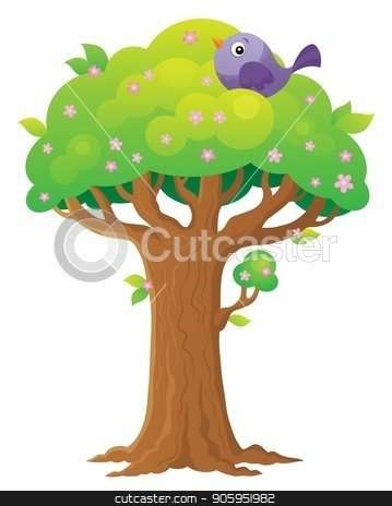 Tree topic image 3 stock vector clipart, Tree topic image 3 - eps10 vector illustration. by Klara Viskova