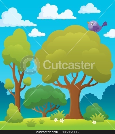 Tree topic image 7 stock vector clipart, Tree topic image 7 - eps10 vector illustration. by Klara Viskova