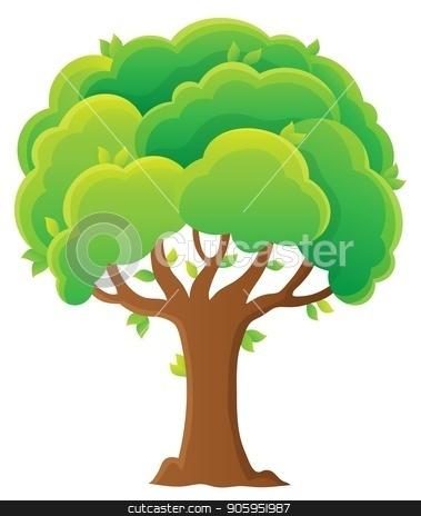 Tree topic image 8 stock vector clipart, Tree topic image 8 - eps10 vector illustration. by Klara Viskova
