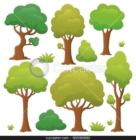 Tree topic collection 1 stock vector clipart, Tree topic collection 1 - eps10 vector illustration. by Klara Viskova