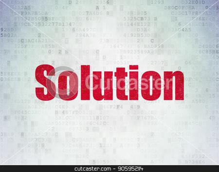 Finance concept: Solution on Digital Data Paper background