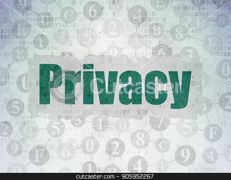 Protection concept: Privacy on Digital Data Paper background stock photo, Protection concept: Painted green text Privacy on Digital Data Paper background with  Scheme Of Hexadecimal Code by mkabakov