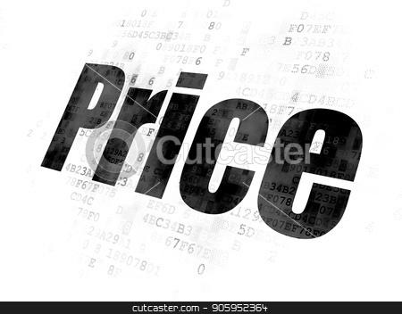 Marketing concept: Price on Digital background stock photo, Marketing concept: Pixelated black text Price on Digital background by mkabakov