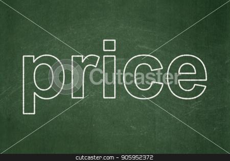 Marketing concept: Price on chalkboard background stock photo, Marketing concept: text Price on Green chalkboard background by mkabakov