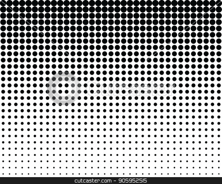 pattern with blend black dots stock vector clipart, Seamless vector pattern with blend black dots, background by Matovic Ratko
